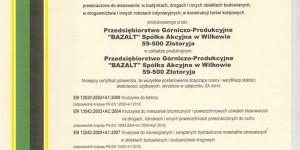 BAZALT S.A - certyfikat - 02